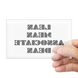 CafePress Lean Mean Associate Dean Rectangle Sticker Rectang