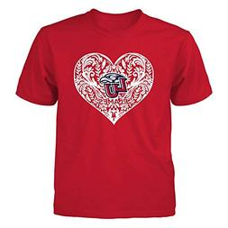 liberty flames red youth tee