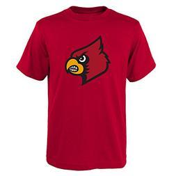 NCAA Boys Louisville Cardinals Primary Logo Tee, Small , Uni