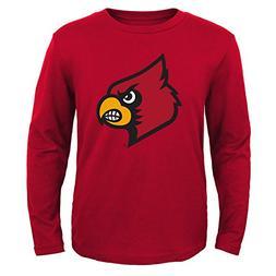 NCAA Louisville Cardinals Boys Rp ls tee Primary Logo, Unive