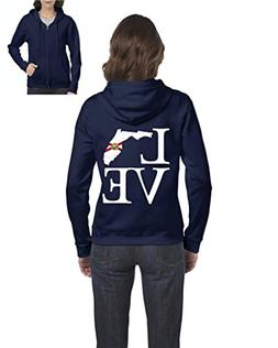 Love Florida State Flag Traveler`s Gift Womens Sweaters Zip