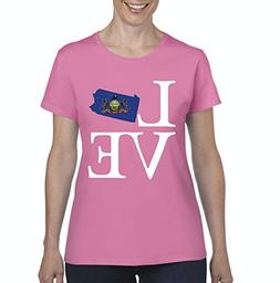 NIB Love Pennsylvania State Flag Traveler`s Gift Womens Shir