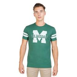 Men Clothing T-Shirt Regular Roundneck Green Oxford Universi