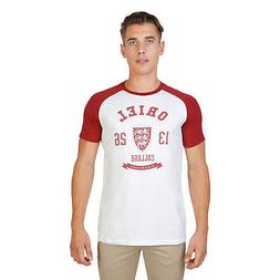 Men Clothing T-Shirt Regular Roundneck Red Oxford University