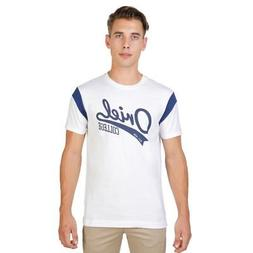 Men Clothing T-Shirt Regular Roundneck White Oxford Universi