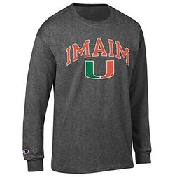 Elite Fan Shop Miami Hurricanes Long Sleeve Tshirt Varsity C