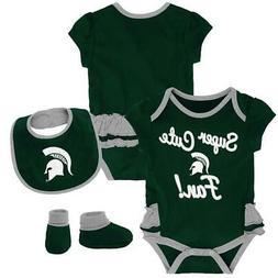 Michigan State University Creeper, Bib and Bootie Set Infant
