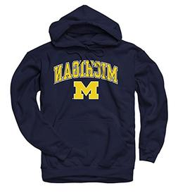 Campus Colors Michigan Wolverines Arch & Logo Gameday Hooded