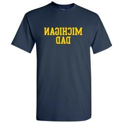 Michigan Wolverines Basic Block Dad T-Shirt - Navy