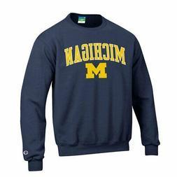 michigan wolverines crewneck sweatshirt varsity navy l