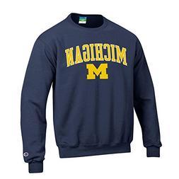 Elite Fan Shop Michigan Wolverines Crewneck Sweatshirt Varsi