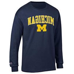 Elite Fan Shop Michigan Wolverines Long Sleeve Tshirt Varsit