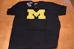 Michigan Wolverines NCAA Navy Blue  Adidas Yellow Primary M