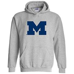 Michigan Wolverines Primary Logo Hoodie - Large - Sport Grey
