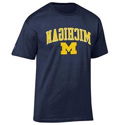 Elite Fan Shop Michigan Wolverines Tshirt Varsity Navy - M -