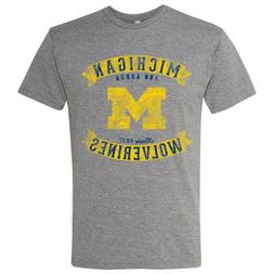 Michigan Wolverines Vintage Banners Triblend T-Shirt - Premi