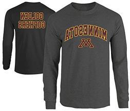 Elite Fan Shop Minnesota Golden Gophers Long Sleeve Tshirt H