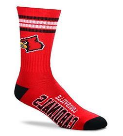 For Bare Feet NCAA 4 Stripe Deuce Crew Men Socks )