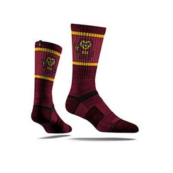 NCAA Arizona State Sun Devils Tokyodachi Crew Socks, Red, On