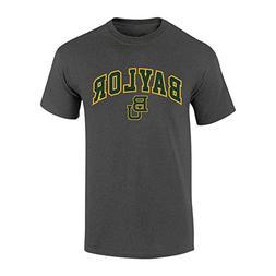 Elite Fan Shop NCAA Men's Baylor Bears T Shirt Dark Heather