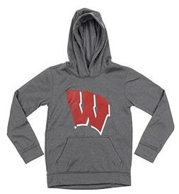 Outerstuff NCAA Big Boys Youth Pullover Grey Hoodie , Wiscon
