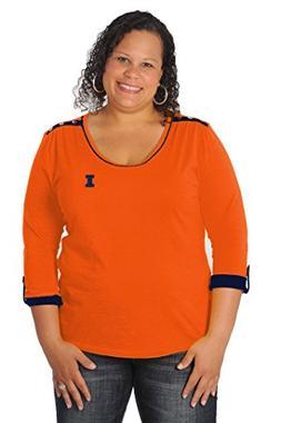 UG Apparel NCAA Illinois Illini Women's Plus Size Roll-Up To