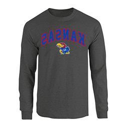 Elite Fan Shop NCAA Men's Kansas Jayhawks Long Sleeve Shirt