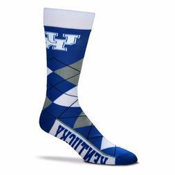 NCAA Kentucky Wildcats Argyle Unisex Crew Cut Socks - One Si