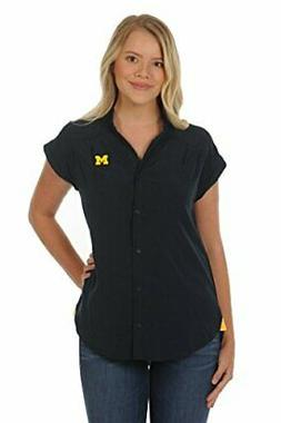 UG Apparel NCAA Michigan Wolverines Women's Cece Top, Navy/G