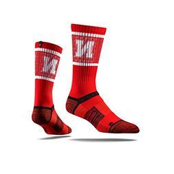 Strideline NCAA Nebraska Cornhuskers Premium Athletic Socks,