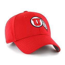 NCAA Utah Utes OTS All-Star MVP Adjustable Hat, Red, One Siz