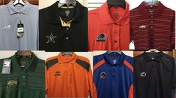 New NCAA Men's Polo Golf Shirt Dress Shirt College Apparel -
