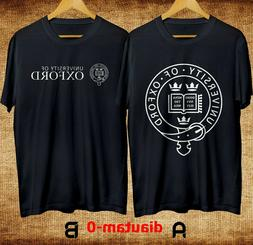 New Oxford University England Clothing Black T Shirt Size US