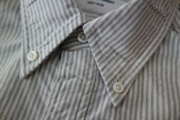 NWOT Thom Browne Gray University Stripe Oxford Cloth Women's