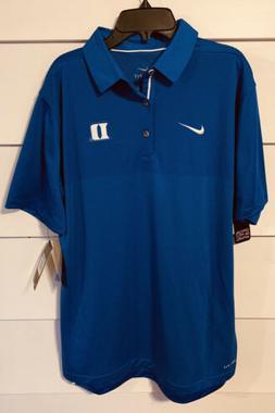 NWT NIKE On Field Apparel Duke University Dri-fit Polo Shirt