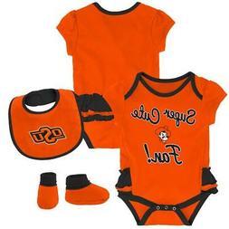 Oklahoma State University Creeper, Bib and Bootie Set Infant