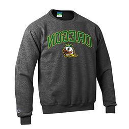 Elite Fan Shop Oregon Ducks Crewneck Sweatshirt Varsity Char