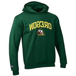 Elite Fan Shop Oregon Ducks Kids Hooded Sweatshirt Arch Gree