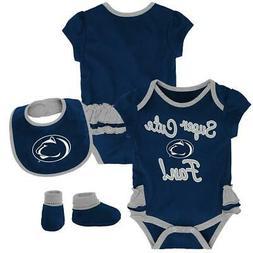 Penn State University Creeper, Bib and Bootie Set Infant Set
