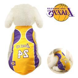 Pet Dog James Kobe Basketball Jersey Puppy Party Custome Ves
