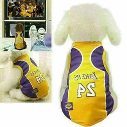 Pet Dog T shirt Basketball Jersey Puppy Party Custome Vest F