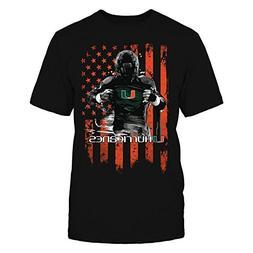 Player Flag - Miami Hurricanes - Gildan Unisex T-Shirt - Off