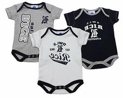 Outerstuff Rice Owls Baby Clothing, University 3 Piece Creep