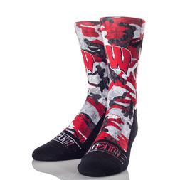Rock'Em Apparel College Team Socks University of Wisconsin C