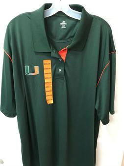 Knights Apparel Size 2XL University Of Miami Hurricanes Gree