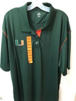 Knights Apparel Size 2XL University Of Miami Hurricanes Gree