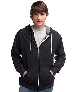 Global Blank Slim Fit Lightweight Zip Up Hoodie for Men and