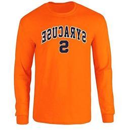 Elite Fan Shop Syracuse Orange Long Sleeve Tshirt Arch Orang