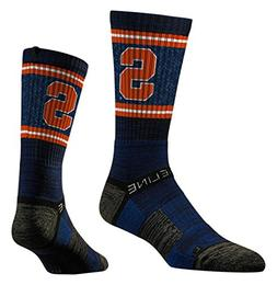 Strideline Syracuse Orange Blue Adult Crew Socks, New