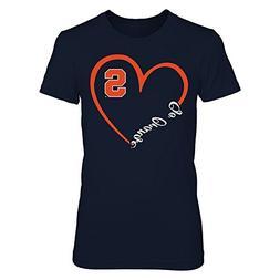 Syracuse Orange Heart 3/4 Blue Premium Women's Tee - Officia